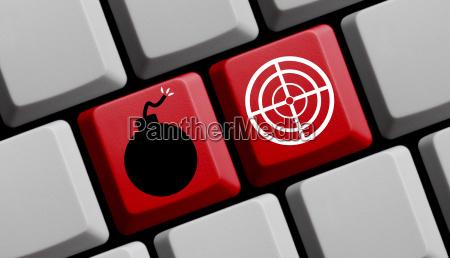 terror online symbol of bomb