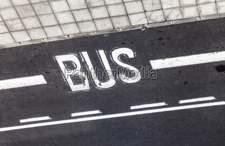 bus sign painted on the