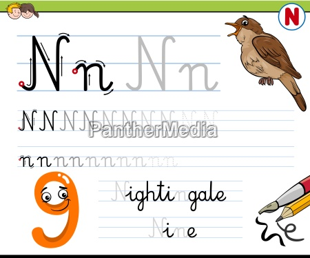 how to write letter n