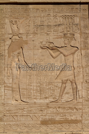 hieroglyphics and temple images in egypt