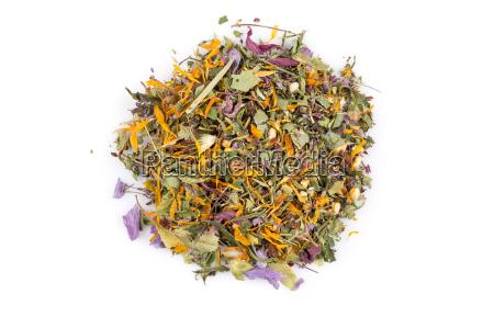 dried herbal tea leaves
