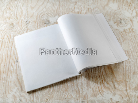 blank opened booklet