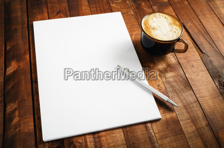 photo of blank letterhead coffee cup