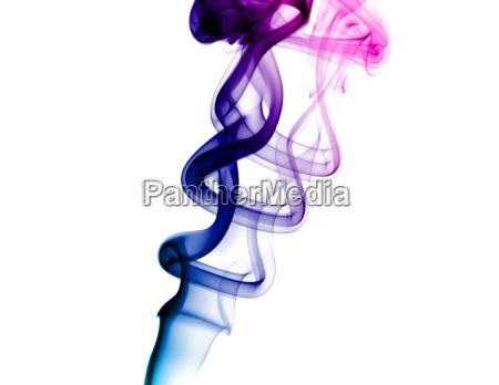 bright purple smoke