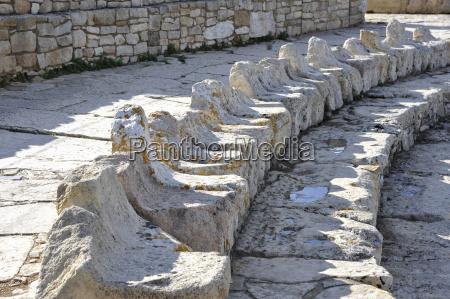 italia sicilia segesta sedili di pietra