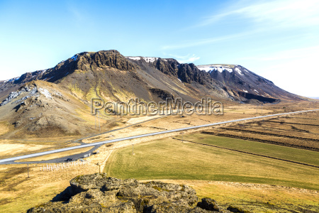 iceland mountains and a road