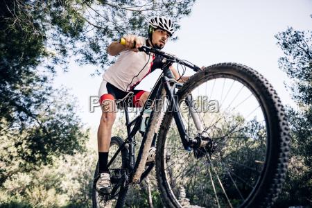 mountain biker on the move