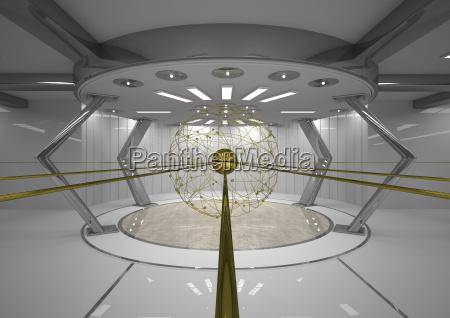 futuristic network 3d rendering