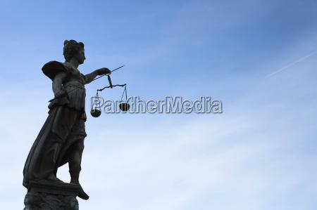 germany frankfurt sculpture of lady justice
