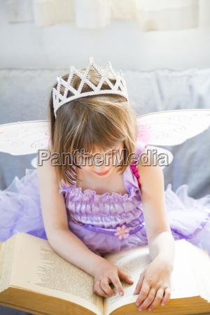 little girl dressed up as fairy