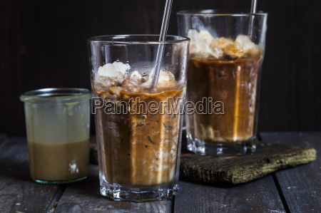 vietnamese iced coffee with strong coffee