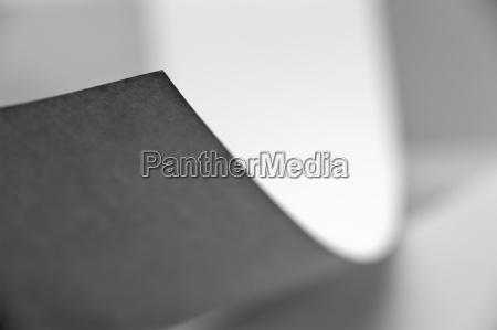 bent sheet of paper