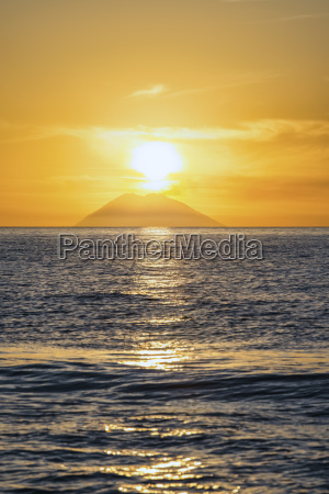 italy sicily aeolian islands view to