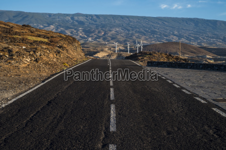 spain canary islands tenerife road and