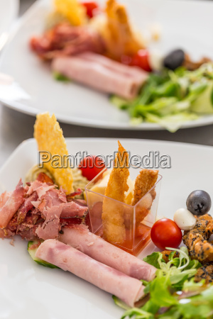 gourmet appetizer dish
