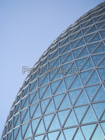 part of glass dome 3d rendering
