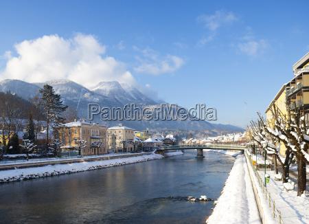 austria bad ischl traun river lehar