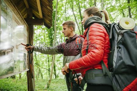 serbia rakovac young couple hiking hiking