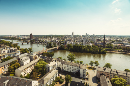germany hesse frankfurt cityview and main