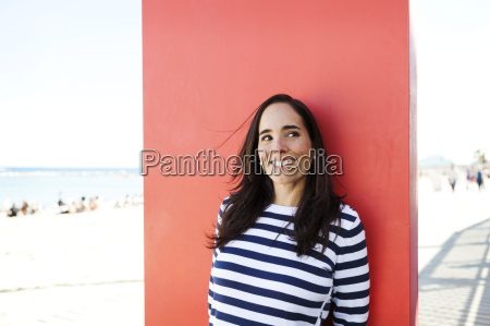 spain barcelona portrait of woman wearing
