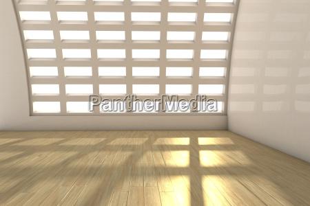 empty white room with laminate floor