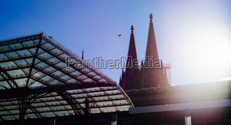 germany cologne view to church spires