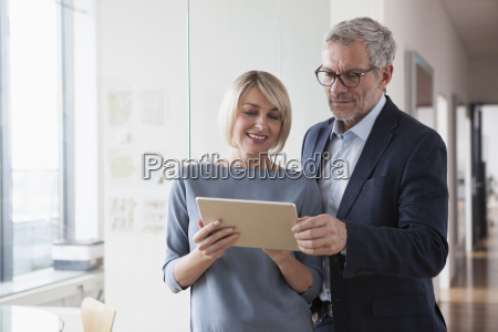 businessman and woman having a meeting