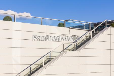 stairs and railing upwards