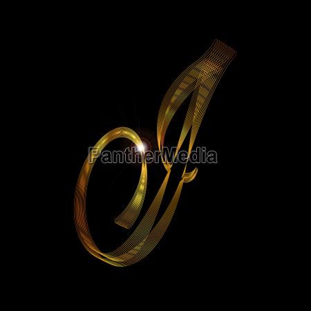 letter i in gold