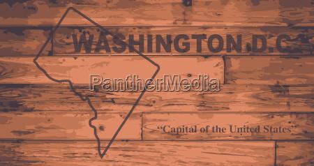 washington dc map brand