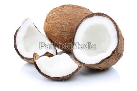 coconut coconuts fruit sliced u200bu200bpieces of