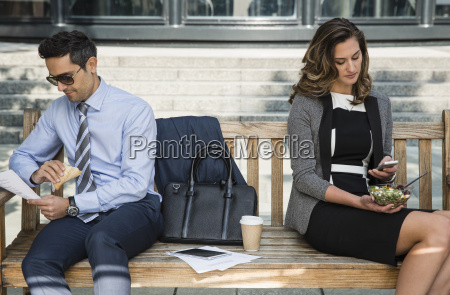 corporate businessman and businessman working and