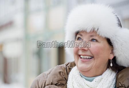 a portrait of a senior woman