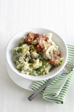 one vegetable salad with potatoes chart