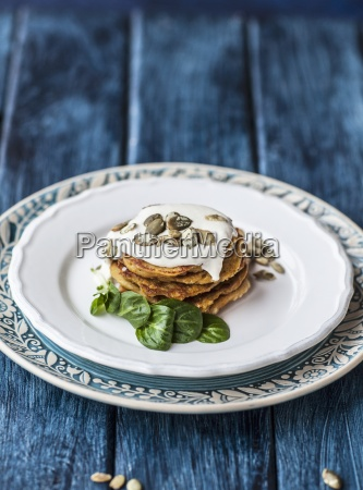 gluten free pumpkin pancakes with quince