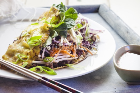 banh xeo vietnamese crepes with minced
