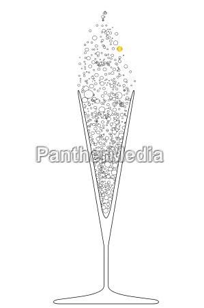 v shaped champagne glass