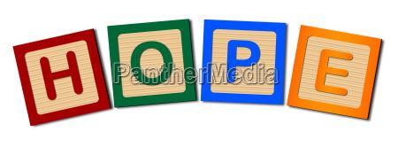 block letters hope