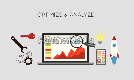 web optimization optimize and analize