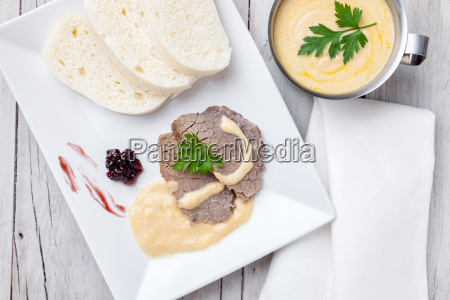traditional czech and slovak sirloin with