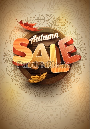 vector autumn sale poster design template