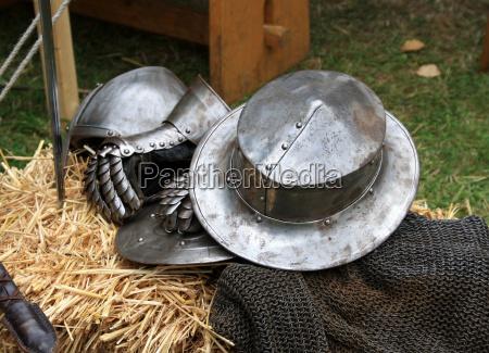 helmet glove chain mail