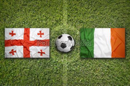 georgia vs ireland flags on soccer