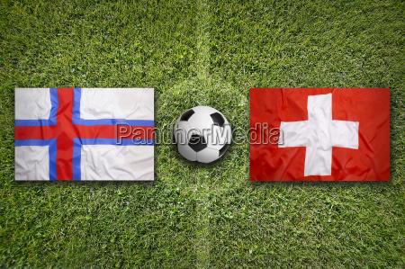 faeroe islands vs switzerland flags on