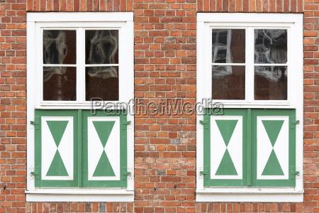 window at a brick house dutch
