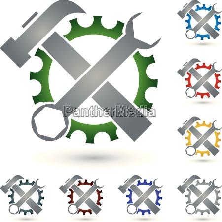 tool logo locks mechanic