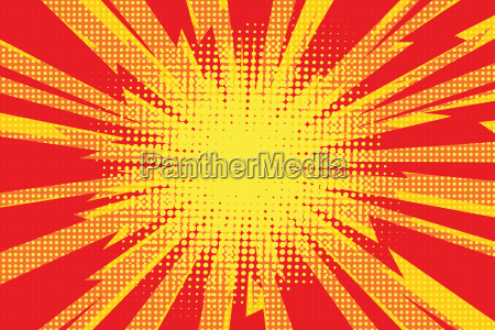 red yellow pop art retro background