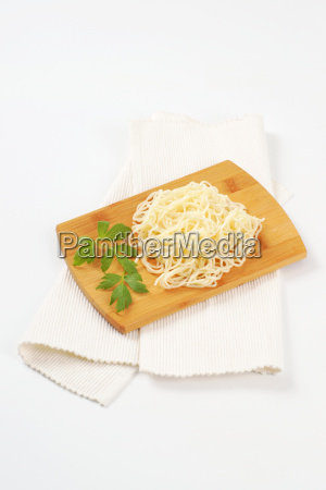 noodles on cutting board