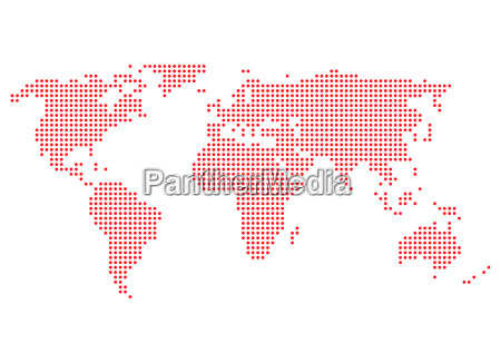world map red dots