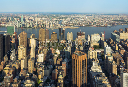 new york city manhattan street aerial